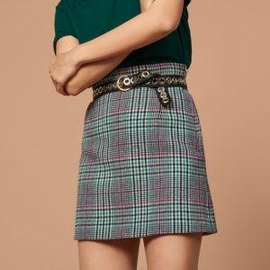 Beautiful short checked skirt by Sandro